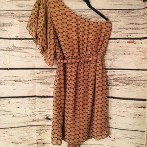 Dragonfly Dress. 1-Shoulder. Charming Charlie.